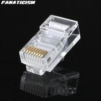 rj45 rj 45 venda por atacado-Fanatismo Hight Qualidade RJ45 RJ-45 CAT5 Plug Modular Conector de Rede 8P8C 8 Pin 8 Contatos Rj45 Lan Conector Modular
