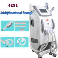 Wholesale ipl e light tattoo removal online - E Light hair removal laser machine standing SHR opt hair removal machine Elight IPL skin rejuvenation device