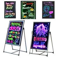 Wholesale light neon signs resale online - LED study board Cooler door shop light LED DIY boar for bar store hotel sign lights promotion advertisement board LED neon lights