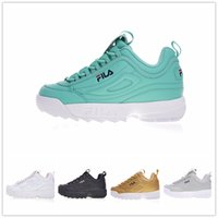 Wholesale red filing - New Arrival white black grey yellow II 2 FILA Women men FILE special section sports sneaker running shoes increased shoes 36-44