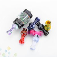 Wholesale electronics for free for sale – best Epoxy Resin Drip Tip Vase Style Colorful Mouthpiece For TFV8 Baby Tank Atomizer Electronic Cigarette DHL Free