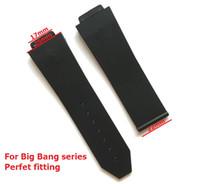 ingrosso orologi di grande fascia-Guarda accessori Cinturino in silicone per BIG BANG Cinturini per uomo 25 * 17mm Cinturino con cinturino in metallo con fibbia in acciaio inossidabile