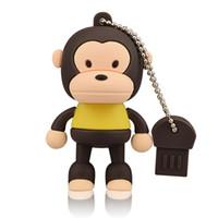 обезьяна оптовых-Коричневый мультфильм обезьяна дизайн 8 ГБ 16 ГБ 32 ГБ 64 ГБ USB флэш-накопители большой палец ручка диски USB 2.0 Memory Stick для компьютера ноутбук Tablet Pen хранения
