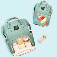 Wholesale polka dot diaper bags - Multifunctional Mommy Backpacks Nappies Bags Diaper Bags Backpack Maternity Large Capacity Outdoor Travel Bags BG02-2 3 PCS