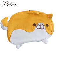 Wholesale doggie style - Pofow new Top lovely puppy Dog Style Chest Pack Single Shoulder Back Bag Canvas 3D Doggie Mini Crossbody Bags Rucksack Chest Bag