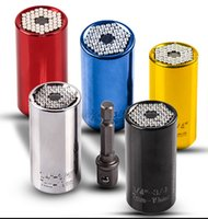 Wholesale construction power tools - Drill Bits for Metal Tool Universal Socket Adapter+Power Drill Adapter 2pcs Set Car Hand Tools Repair Kit Adapter Drill