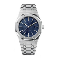 Wholesale classic watches for men - Luxury Watch For Men Fashion Classic Style 42mm Stainless Steel Strap High Quality Automatic Movement Wristwatches Sapphire 15400ST