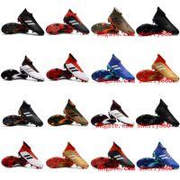 Wholesale Cheap Mens Indoor Soccer Shoes - 2018 originals soccer cleats Predator 18+ FG mens chaussures de football boots soccer shoes Predator 18 botas de futbol cheap
