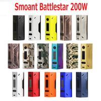 Wholesale Ss Mod - Original Smoant Battlestar 200W TC Box Mod Support Ni Ti SS NC TCR Fit Authentic Smoant Mobula RTA 100% Authentic DHL Free 2246003