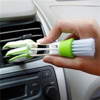 Wholesale Car Dust Brush - Car Cleaning Brush Double Ended Car Air Conditioner Vent Slit Brush Instrumentation Dusting Blind Keyboard Cleaning Washer car Accessories