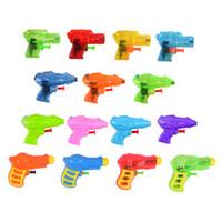 Wholesale guns shoots toys online - Mini Water Gun Summer Kids Cute Pistol Blaster SprayWater Toys Funny Shot Decompression Squirt Guns BB Gun Airsoft gun Outdoor sand playing