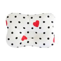 Wholesale polyester filled pillows - Cute Baby Pillow Cotton Filling Baby Shape Pillows Preventing Flat Head Room Decor Newborn Nursing Pillow almofada infantil