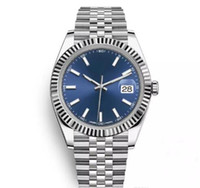мужчины оптовых-Топ AAA 41 мм Datejust стали синий циферблат часы мужчины механические автоматические часы люксовый бренд Reloj бизнес мода президент Desinger часы