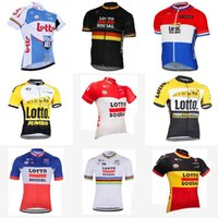 Wholesale fashion bike shorts - LOTTO team Cycling Short Sleeves jersey Summer Cycling Shirt Bike Fashion Fast Dry New ropa ciclismo hombre D308