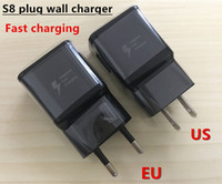 Wholesale original wall charger iphone online - Original Fast Charging V A Eu US Plug Usb Wall Charger Adapter Universal Home Travel USB Charger For Iphone Samsung S6 s7 s8 s9