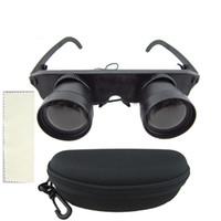binoculares lupa al por mayor-3X28mm HD telescopio binocular montado en la cabeza gafas ópticas gafas Gafas lupa estilo binoculares ópticos de pesca al aire libre con caja