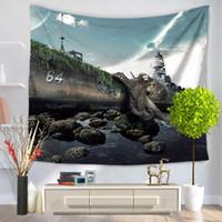 decoração mediterrânica venda por atacado-Moda tapeçaria mar mediterrâneo polvo impressão pendurado protetor solar toalha de praia decoração de casa fontes do partido venda quente 17my ww