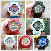 relógios de pulso venda por atacado-5 pçs / lote relogio G110 dos homens relógios esportivos, cronógrafo LED relógio de pulso, relógio militar, presente relógio digital, pequenos ponteiros nenhum trabalho, nenhuma caixa