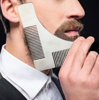Wholesale Styling Combs - Stainless Steel Beard Bro Shaping Tool Styling Template Beard Shaper Comb for Template Beard Modelling Comb With Package CCA9372 100pcs
