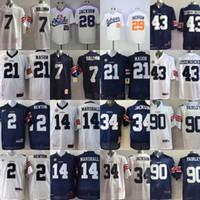 Wholesale auburn tigers football jersey - Auburn Tigers College Jersey 2 Cam Newton 14 Nick Marshall 21 Tre Mason 29 Bo Jackson 7 Sullivan 90 Fairley Jerseys White Blue