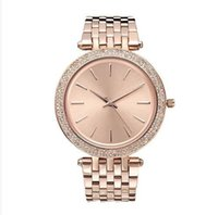 Wholesale simple gold design - 38mm ultra thin Ladies Simple design full diamond watch womens luxury designer Top famous brand rose gold bracelet stainless steel clocks 11