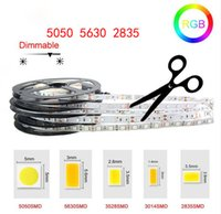 ingrosso 12v luce principale del nastro-LED Strip Light High Bright 5M SMD2835 5050 5630 DC 12V 60LEDs / M Nastro flessibile Nastro impermeabile Decor Luci LED