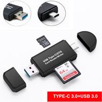 usb многофункциональный кард-ридер оптовых-Многофункциональный картридер USB 3.0 2.0 SD-карта типа C Micro V8 OTG Reader Адаптер для Samsung Huawei Android смартфон Macbook