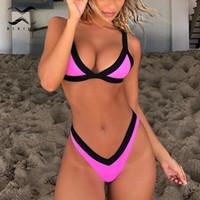 22e3171a9c48f Bikinx High cut micro bikini set 2019 Triangle swimsuit push up swimwear  sexy bathing suit women biquini Brazilian thong bikini