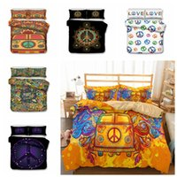 Wholesale bedding sets pieces for sale - 6styles Hippie Style printed Kids Bedding Set Duvet Cover Quilt Cover Pillowcase Bedding Supplies set FFA681