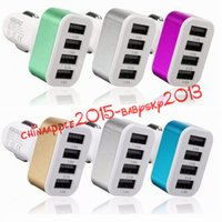 apple iphone 5s gps 2018 - Car Adapter 4 USB Ports Car Charger adapter For iPhone 5 5S 6 7 Plus for Samsung for ipad htc lg mp3 gps
