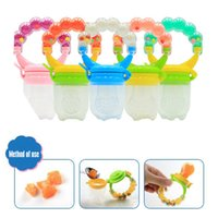 Wholesale Pink Pacifiers - Baby Silicone Toddle Feeding Infant Pacifier Soother Kids Dummy Fresh Fruit Food Feeder Bite Nipple 5 Colors AAA133