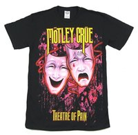 черная фиолетовая маска оптовых-Пестрый Крю фиолетовые маски театр боли черная футболка новый официальный группа Merch