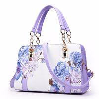 Wholesale painting famous resale online - Pochette luxury Painting flowers Chain Women Bag famous designer purses and handbags ladies hand bags dollar price sac a main