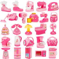 ingrosso fingere giocare giocattoli da cucina-2pcs casuale Dollhouse Miniature Juice Squeezer Gioca Kitchen Juicer Doll Mobili Pretend Gioca Kitchen Tools Giocattoli per bambini
