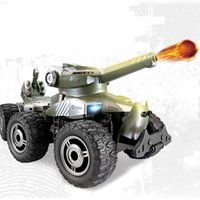 Wholesale remote control bullets - RC Car Charging Armored Polar War Chariot Launch Bullets 4WD Off Road 6 Wheel Remote Control Tank Toys For Children Gifts