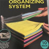 Wholesale wholesale travel systems - 10 Layer Anti-wrinkle Neat Clothes Storage Organizer Holder Rack Ezstax T-shirt Organizing System Travel Closet Organizer