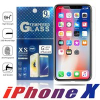 Wholesale For Iphone X S Plus Samsung S8 S7 Edge Plus Tempered glass Screen Protector Anti fingerprint for S7 Edge Paper Package
