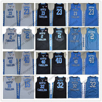 Wholesale north blue - NCAA North Carolina Tar Heels #32 Luke Maye 2 Joel Berry II 15 Carter 23 Michael 40 Barnes UNC blue black white Jerseys