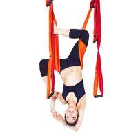 Wholesale yoga swing online - 1 Piece Colors Yoga Hammock Swing Multifunction Anti gravity Gym Hamack Belts For Hanging Training