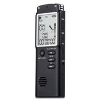 leitor de mp3 portátil portátil venda por atacado-Gravador de Voz USB 8 GB com tela LCD Tempo Display Ditafone / MP3 player Handheld Profissional gravador de áudio digital Portátil