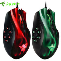 Wholesale Not original Razer Naga Hex MOBA PC Gaming Mouse dpi Razer Mouse Laser Sensor Computer Mice Million Click Life Cycle Green Red