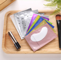 Wholesale Thin Hydrogel Eye Patch for Eyelash Extension Under Eye Patches Lint Free Gel Pads Moisture Eye Mask Multiple color packaging High quality