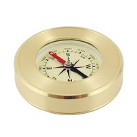 Wholesale tourism souvenirs - 2018 High-grade Brass Advertising Gifts Outdoor Tools Compass Metal Crafts Tourism Souvenirs