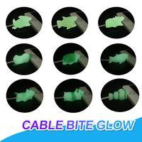 iphone lightning cable protector 도매-빛나는 케이블 물린 충전기 케이블 보호기 아이폰 번개 커버 귀여운 동물 충전 코드 수호자 동물 전화 액세서리