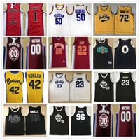 Wholesale black yellow rims - NCAMovie Suture Jerseys #96 Tupac Shakur Dirbie 72 Biggie Smalls Out Birdmen Jersey #23 Motaw Above The Rim Black Stitched Basketball Jersey