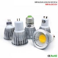 Wholesale spotlight mr16 for sale - Led lights W W W COB GU10 GU5 E27 E14 MR16 Dimmable LED Sport light lamp Power bulb lamps DC12V AC110V V
