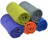 Wholesale polyester cloth suppliers - 20pc Microfiber Hair Drying Towel Turban Wrap Towels Microfibre Travel Camping Sports Cloth Ultra Absorbent Supplier