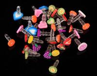 Wholesale cute cell phone plugs - Cartoon dust plug fruit headphone plug cute cell phone accessories