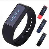 ingrosso sport pedometro senza fili-I5 Plus Bluetooth Smart Sport Bracciale Wireless Fitness Pedometro Activity Tracker con passi Counter Monitoraggio del sonno