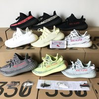 Wholesale frozen low shoes online - 2018 New Sply V2 Static Sesame Butter Beluga Semi Frozen Yellow Blue Tint Zebra Bred Cream White Running Shoes Sport